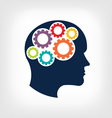 Head gears Abstraction of thinking mind vector image
