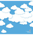 clouds in the blue sky vector image