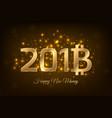 2018 bitcoin btc sign symbol happy new money gold vector image