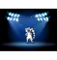 A lemur dancing at the stage with spotlights vector image vector image