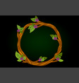 a round flowering wreath of vector image vector image