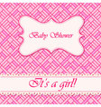 Baby-shower-abstract-background-girl-3 vector image vector image
