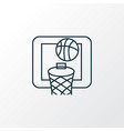 basketball icon line symbol premium quality vector image