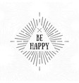 be happy tribal boho style frame starburst logo vector image vector image