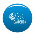 beautiful dandelion logo icon blue vector image