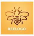 Bee logo bee honey