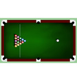 Billiard balls on table vector image vector image