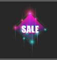 bright neon billboard with text sale sparkling vector image