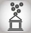 building bank coin money banking pictogram image vector image