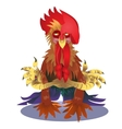 Cock and numbers 2017 in style of polygons vector image