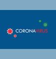 corona virus poster on blue background vector image