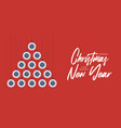 covid19 christmas and new year greeting flat vector image vector image