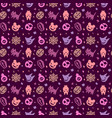 cute halloween pattern background with purple colo vector image vector image
