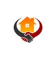 deal home logo vector image vector image
