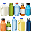Different bottles vector image vector image