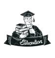 education logo design template school vector image vector image