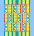 ethnic seamless pattern cloth kente vector image vector image