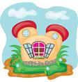 fairy house vector image
