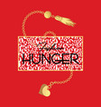 fashion hunger slogan t-shirt and animal fashion vector image vector image