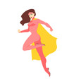 female superhero or superheroine brunette woman vector image