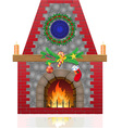 fireplace 03 vector image vector image