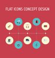 flat icons fiddle knob tone symbol and other vector image vector image