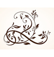 Floral Ornament Design vector image vector image