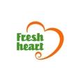 Fresh heart logo vector image