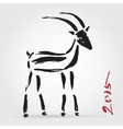 Goat 2015 New year Symbol vector image
