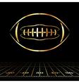 golden american football vector image vector image