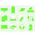 green goods icons of computer online store vector image