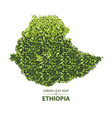 green leaf map ethiopia vector image vector image