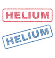helium textile stamps vector image vector image