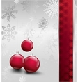 Image Of Christmas with balls vector image vector image
