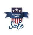 independence day sale background 4th of july vector image