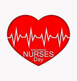 international nurses day with red vector image vector image