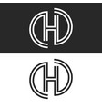 letter h monogram logo creative smooth parallel vector image vector image