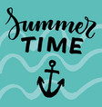 light abstract summer typographic template vector image