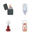 lighter economical light bulb edison lamp vector image vector image