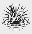 logo for beer bar on white background vector image vector image