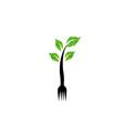logo for vegetarian restaurant vector image vector image