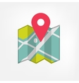 Map icon with pointer vector image vector image