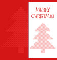 merry christmas greeting card with square mosaic vector image vector image