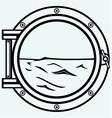 Metallic porthole vector image vector image