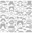 Moustaches a background vector image vector image