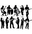music silos vector image
