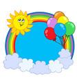 party rainbow circle vector image vector image
