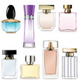 perfume water icons vector image