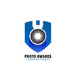 photo awards logo vector image vector image