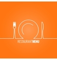 plate fork knife design background vector image vector image
